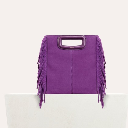 Maje SUEDE M Bag in Viole