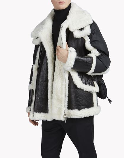 Dsquared2 Shearling-Trimmed Puffer Jacket