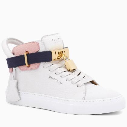 Rainbow presents: BUSCEMI 100MM NUBUCK OFF WHITE SNEAKERS