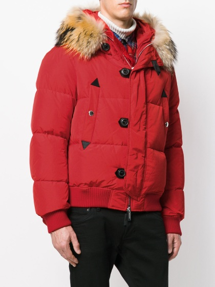 DSQUARED2 Racoon Fur Down Jacket