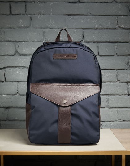 Brunello Cucinelli Office backpack in nylon and buffalo leather