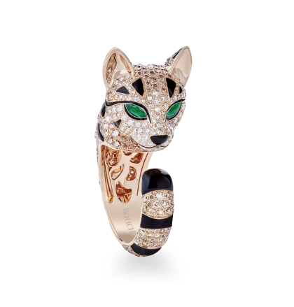 Boucheron Fuzzy the Leopard Cat ring in rose gold