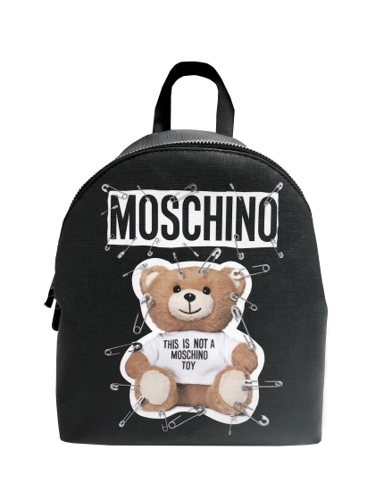 Moschino Safety pinned teddy backpack