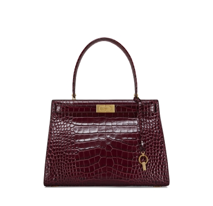 Tory Burch Lee Radziwill Embossed Satchel in Wendy Lux