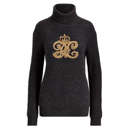 Ralph Lauren Embroidered Crest Turtleneck