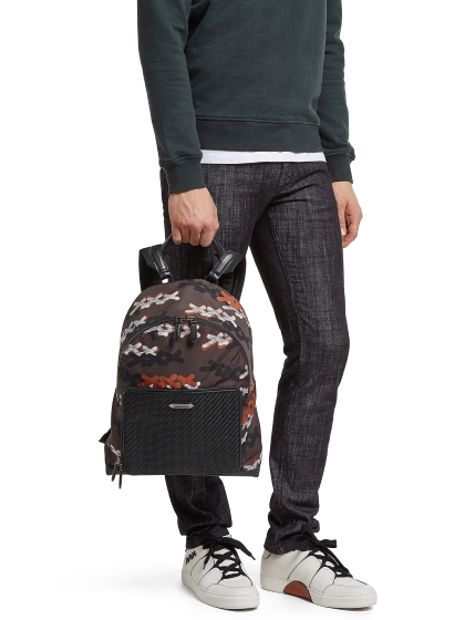 Ermenegildo Zegna PELLE TESSUTA™ and Nylon XXX Backpack