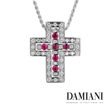 DAMIANI Special Collier that Combines Two Separable Crosses