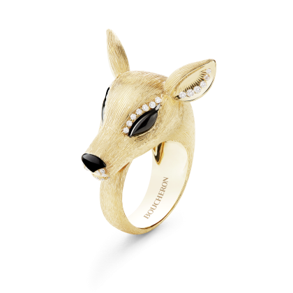 Boucheron Nara the Doe ring in yellow gold