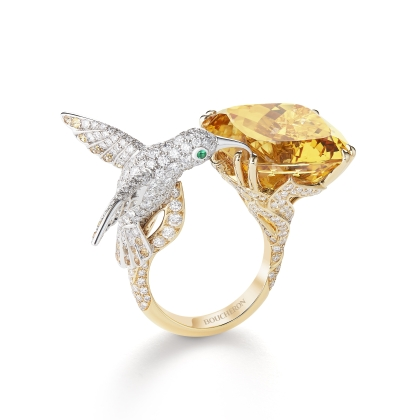 Boucheron Hopi the hummingbird ring in yellow gold