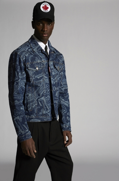 DSquared2 Printed denim jacket