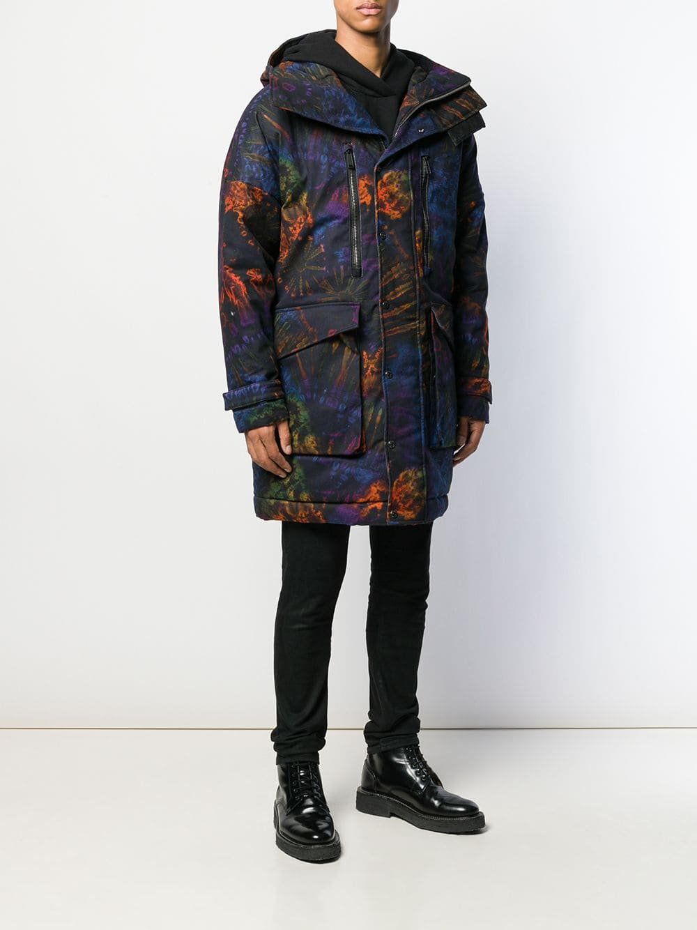 DSquared2 tie dyed printed coat