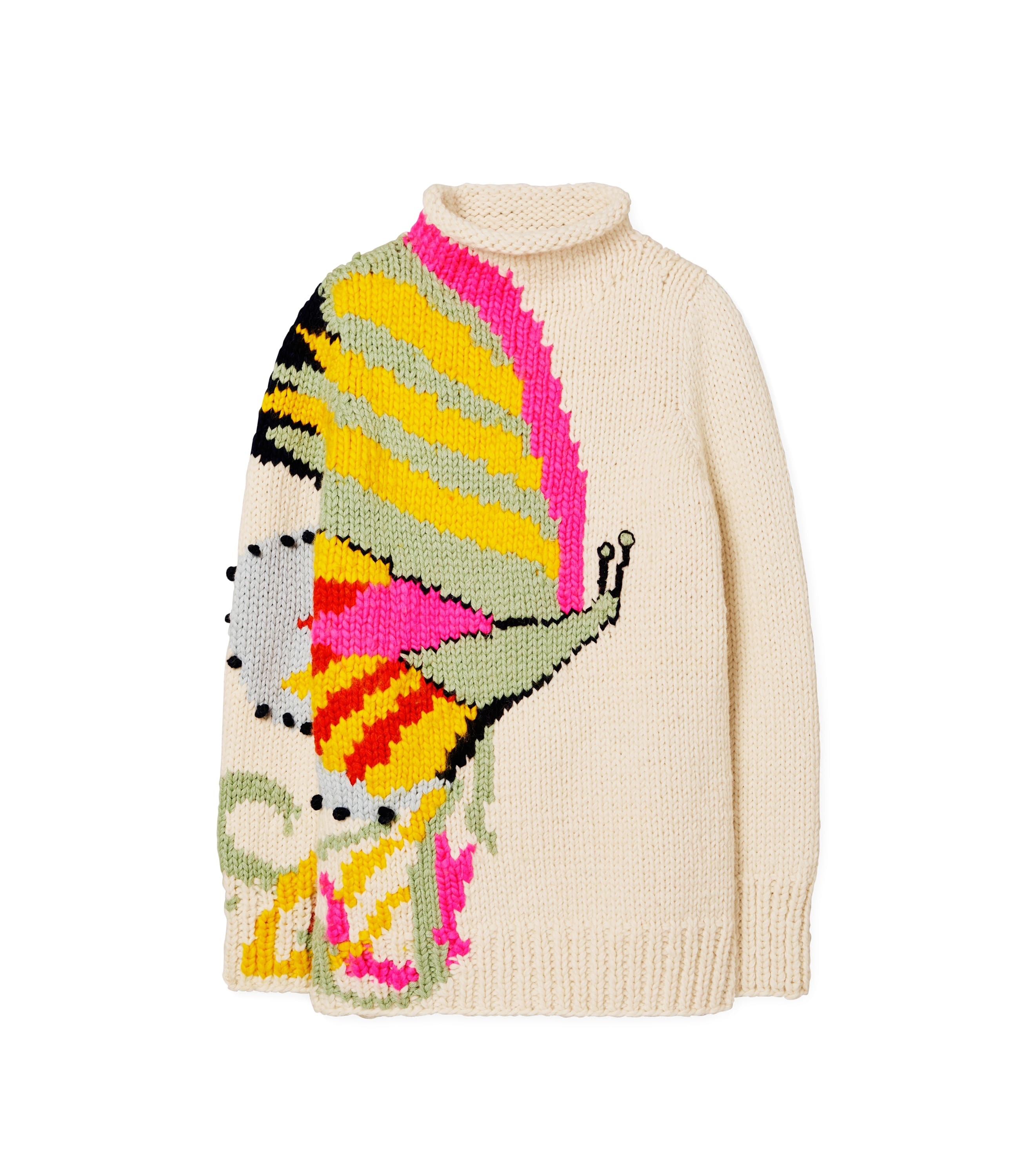 Tory Burch Butterfly Handknit Turtleneck
