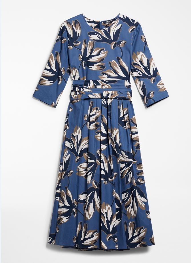 Max Mara PRINTED POPLIN DRESS
