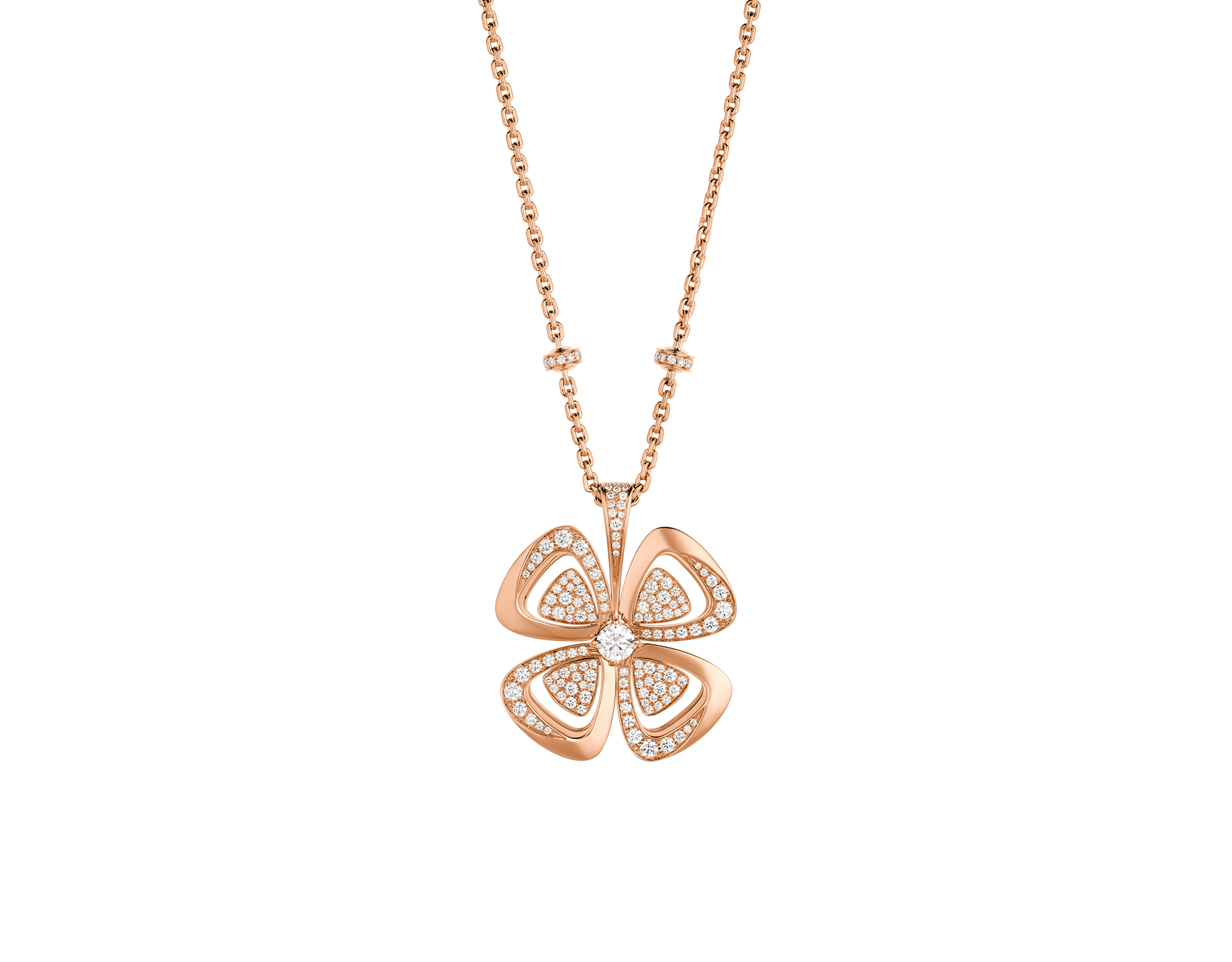 BVLGARI Fiorever 18 kt rose gold necklace set