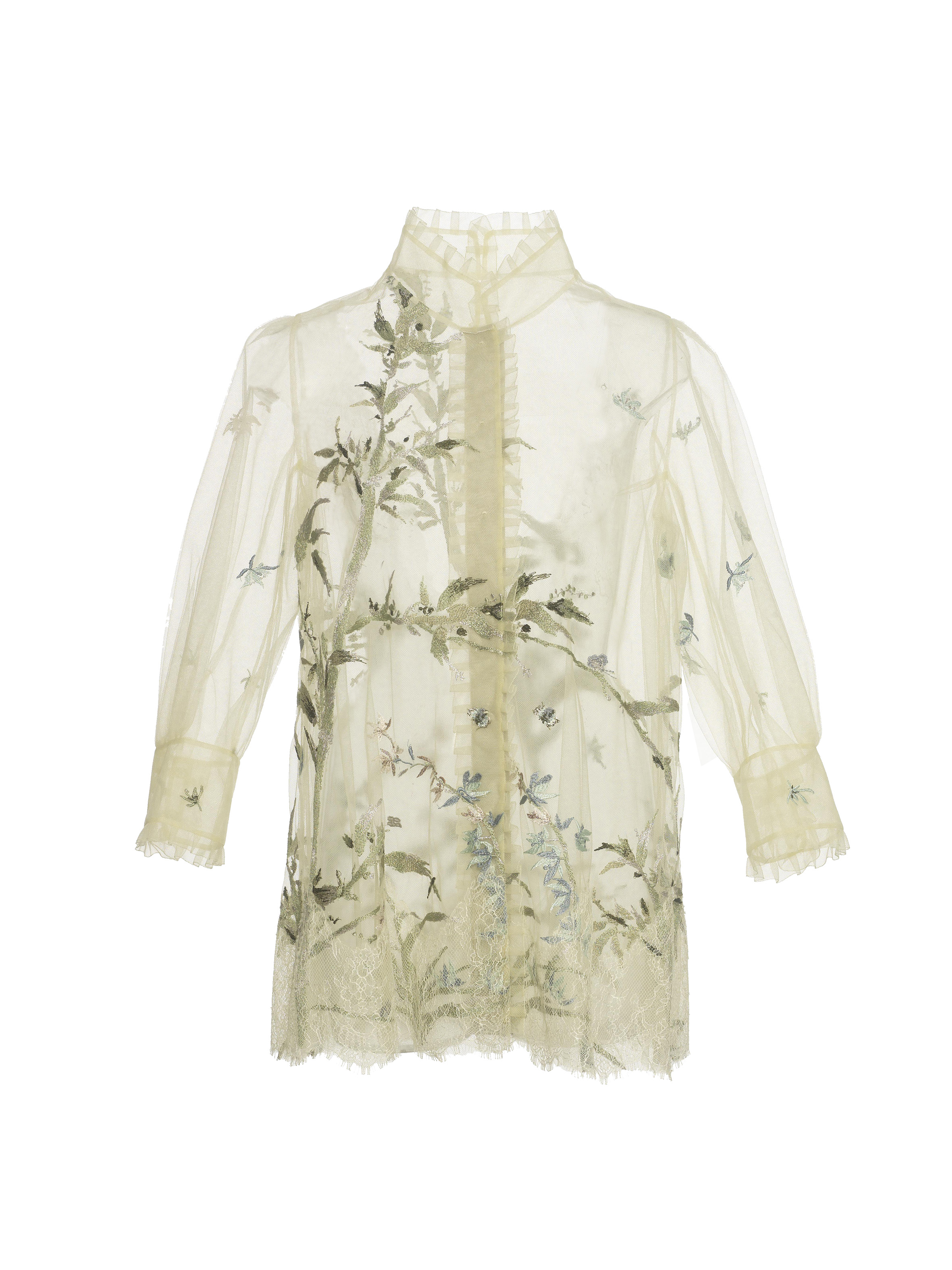 SHIATZY CHEN embroidered lace shirt