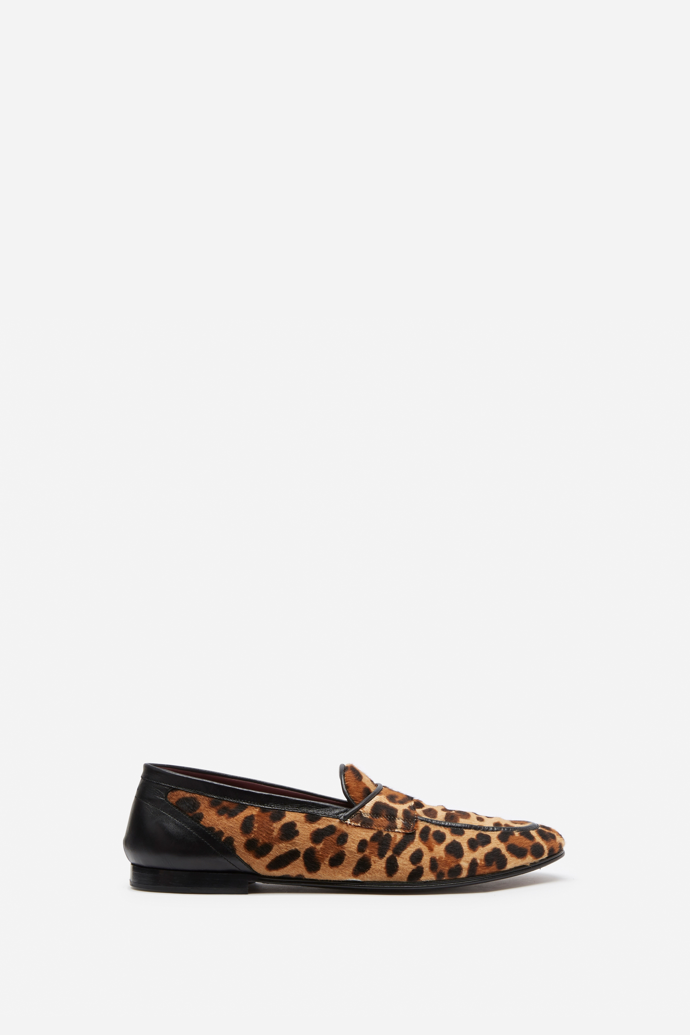 DOLCE & GABBANA ERICE LEOPARD LOAFERS IN PONY & CALFSKIN LEATHER