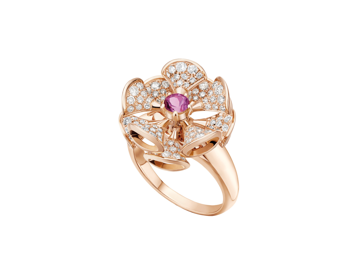 BVLGARI 'DIVAS' DREAM ring in 18 kt rose gold