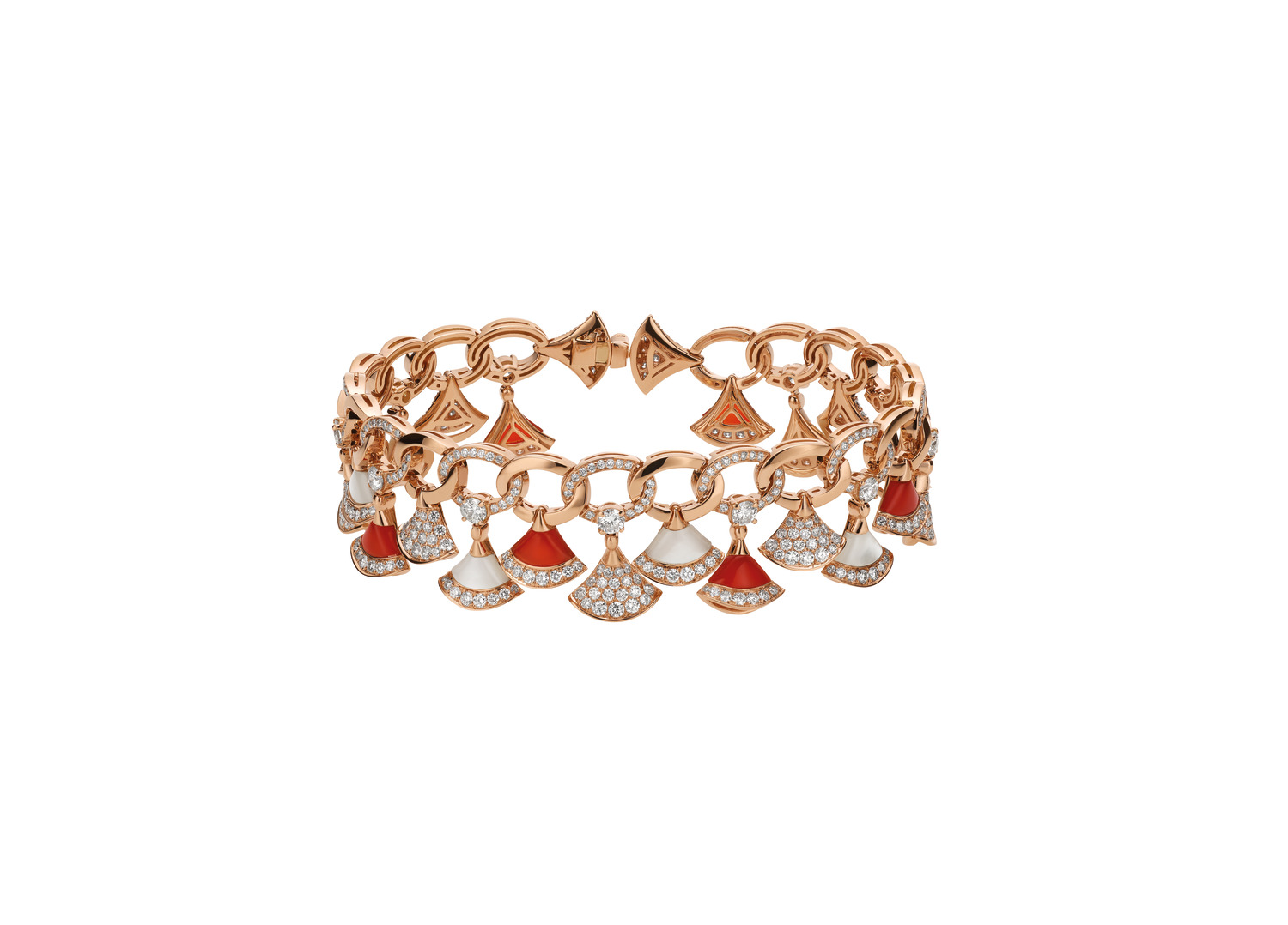 BVLGARI DIVAS' DREAM bracelet in 18 kt rose gold
