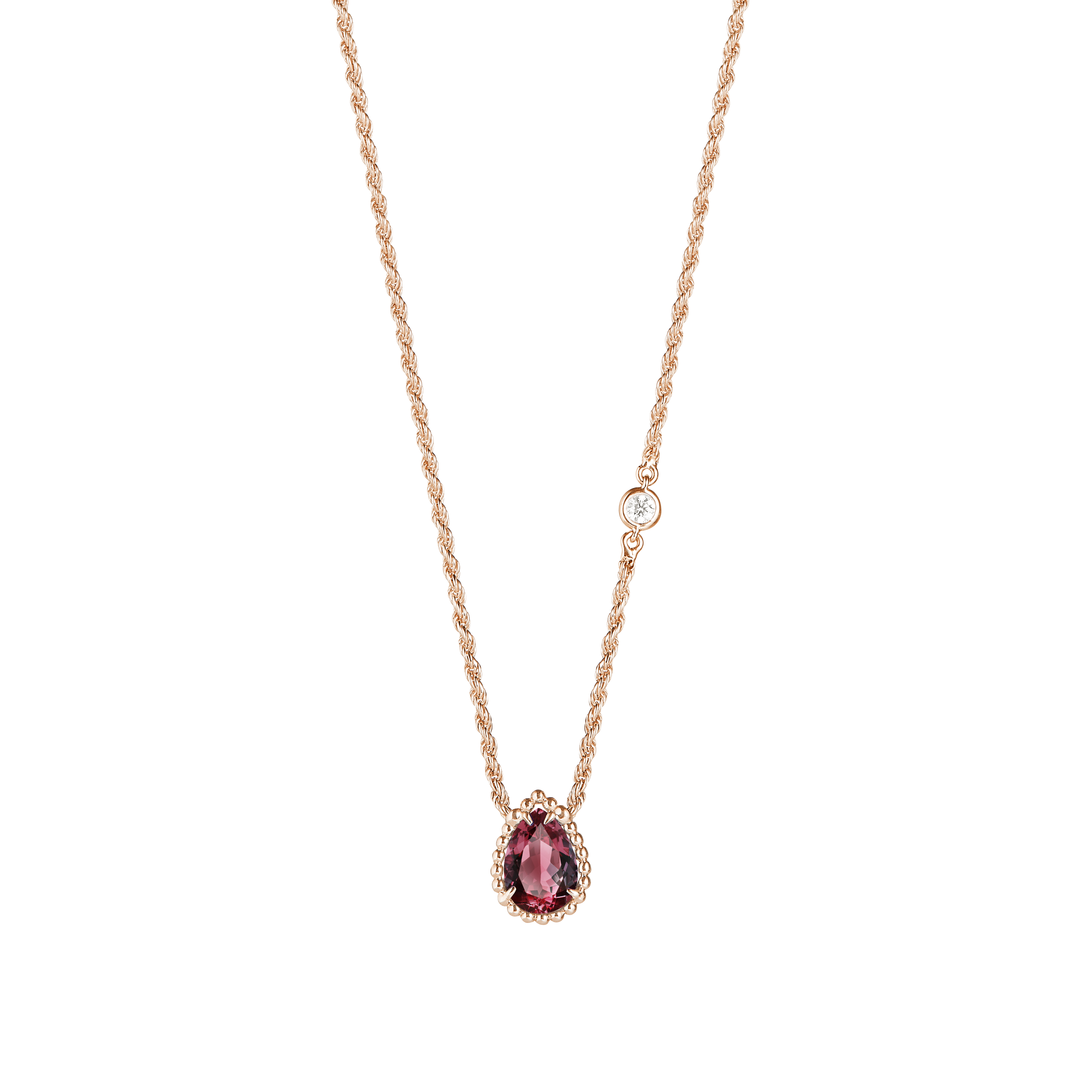 Boucheron Serpent Bohème pendant necklace (XS motif) in pink gold
