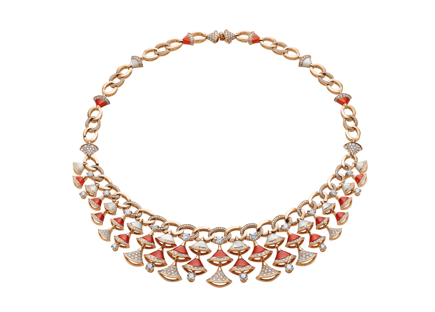 BVLGARI DIVAS' DREAM necklace in 18 kt rose gold