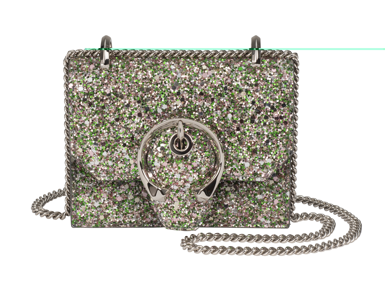 Jimmy Choo MINI PARIS – PEPPERMINT GLITTER
