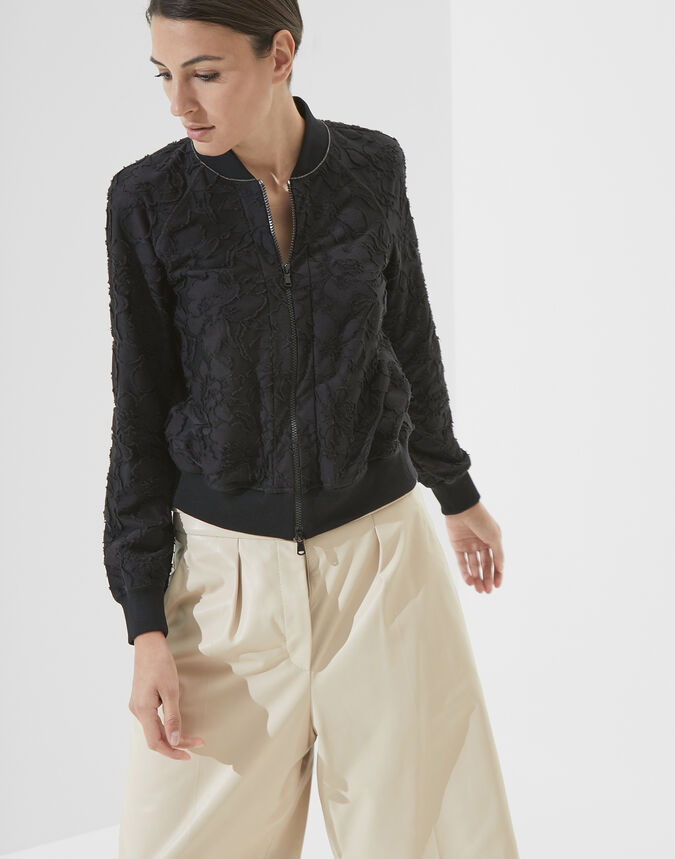Brunello Cucinelli Flower Jacquard jersey sweatshirt with monili