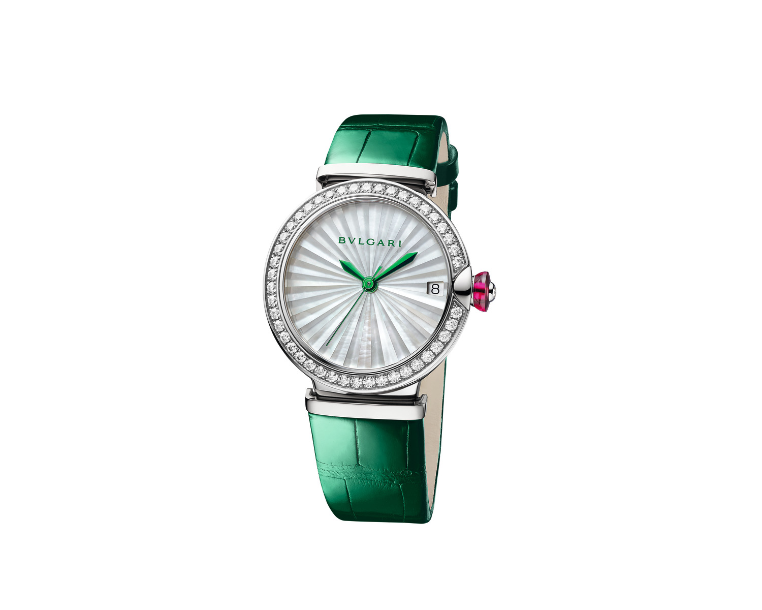 BVLGARI 'LVCEA watch 33mm with stainless steel case set with diamonds