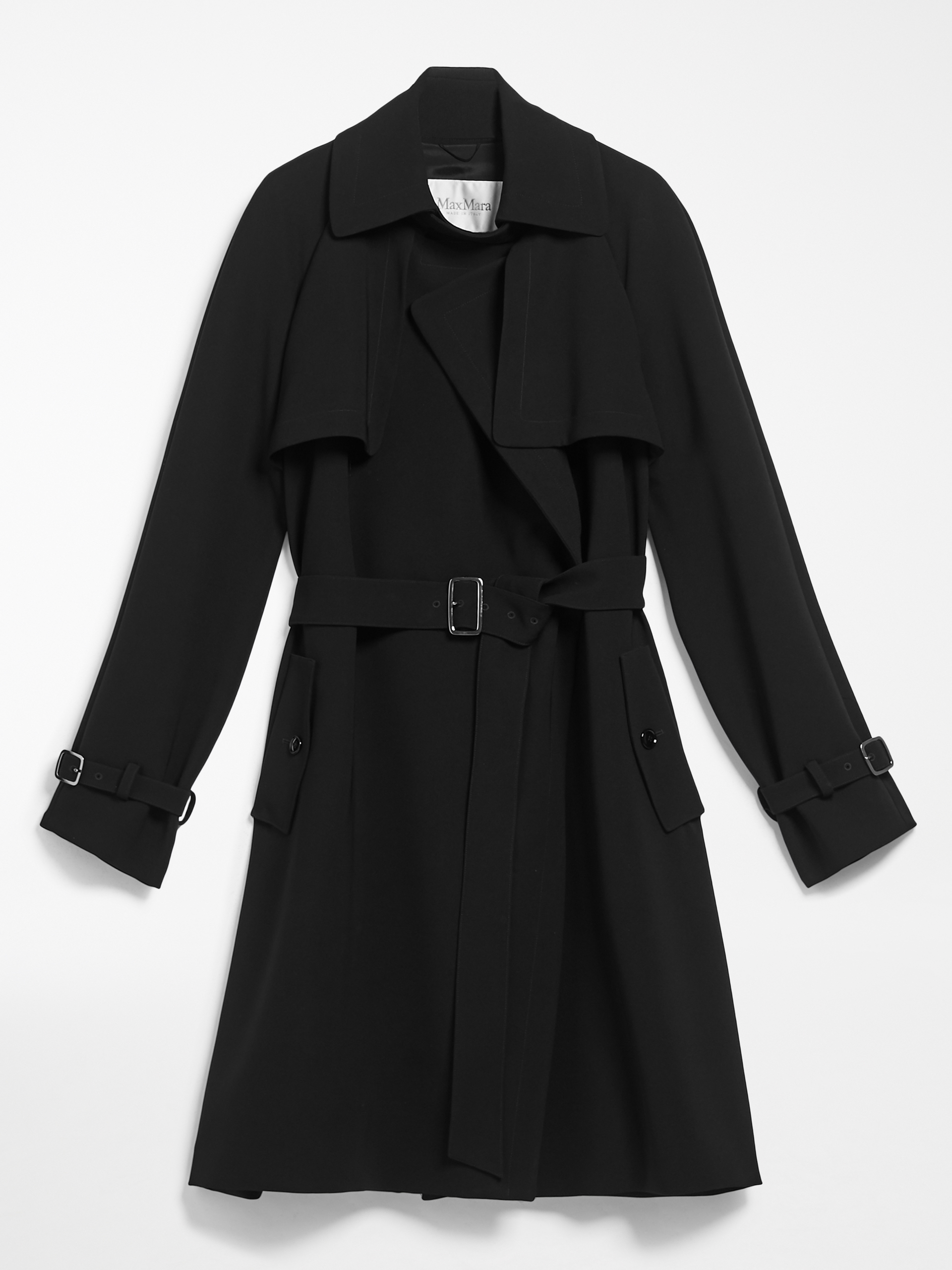 Max Mara Triactete Cady Trench Coat in black