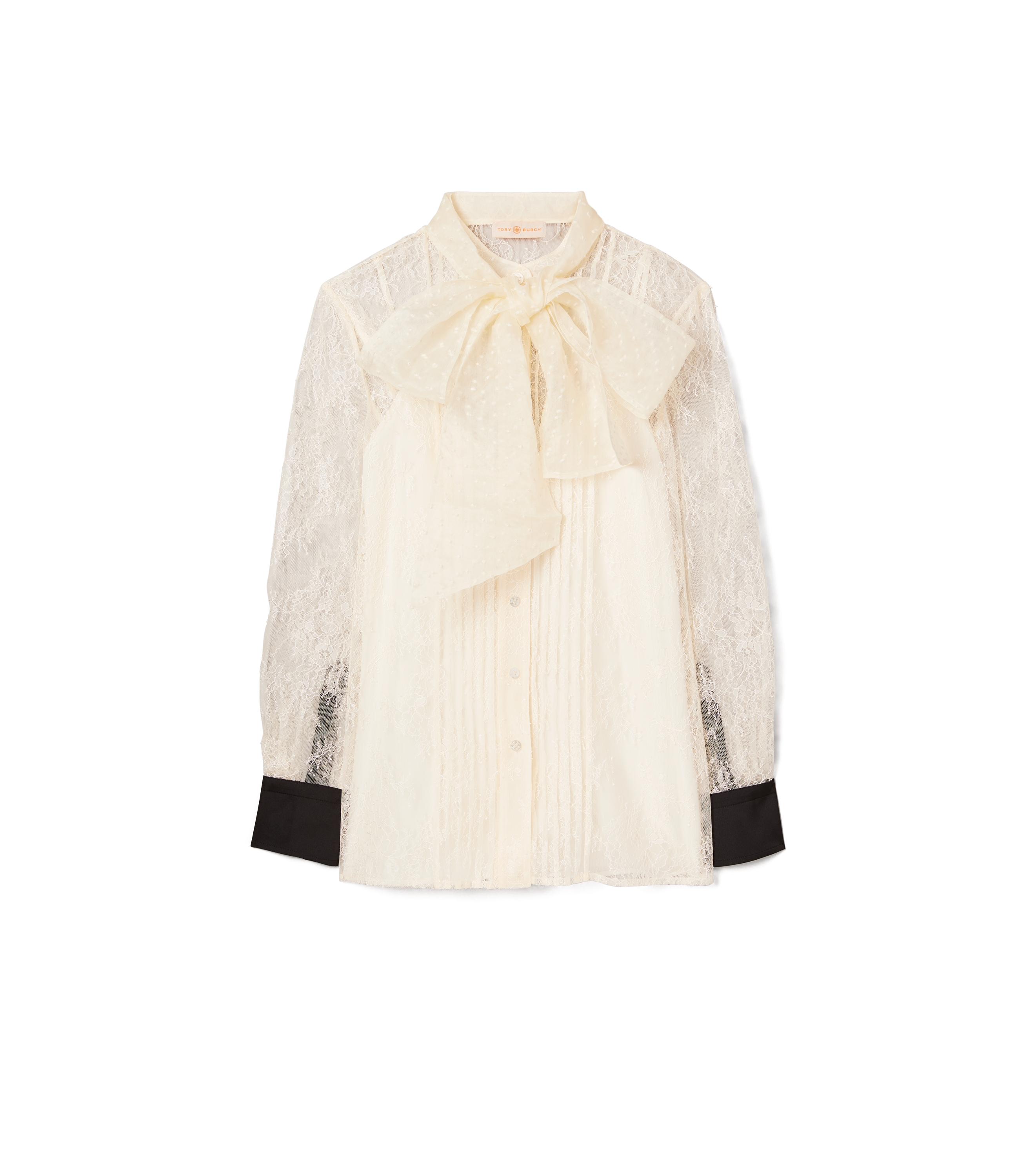 Tory Burch Chantilly Lace Bow Blouse