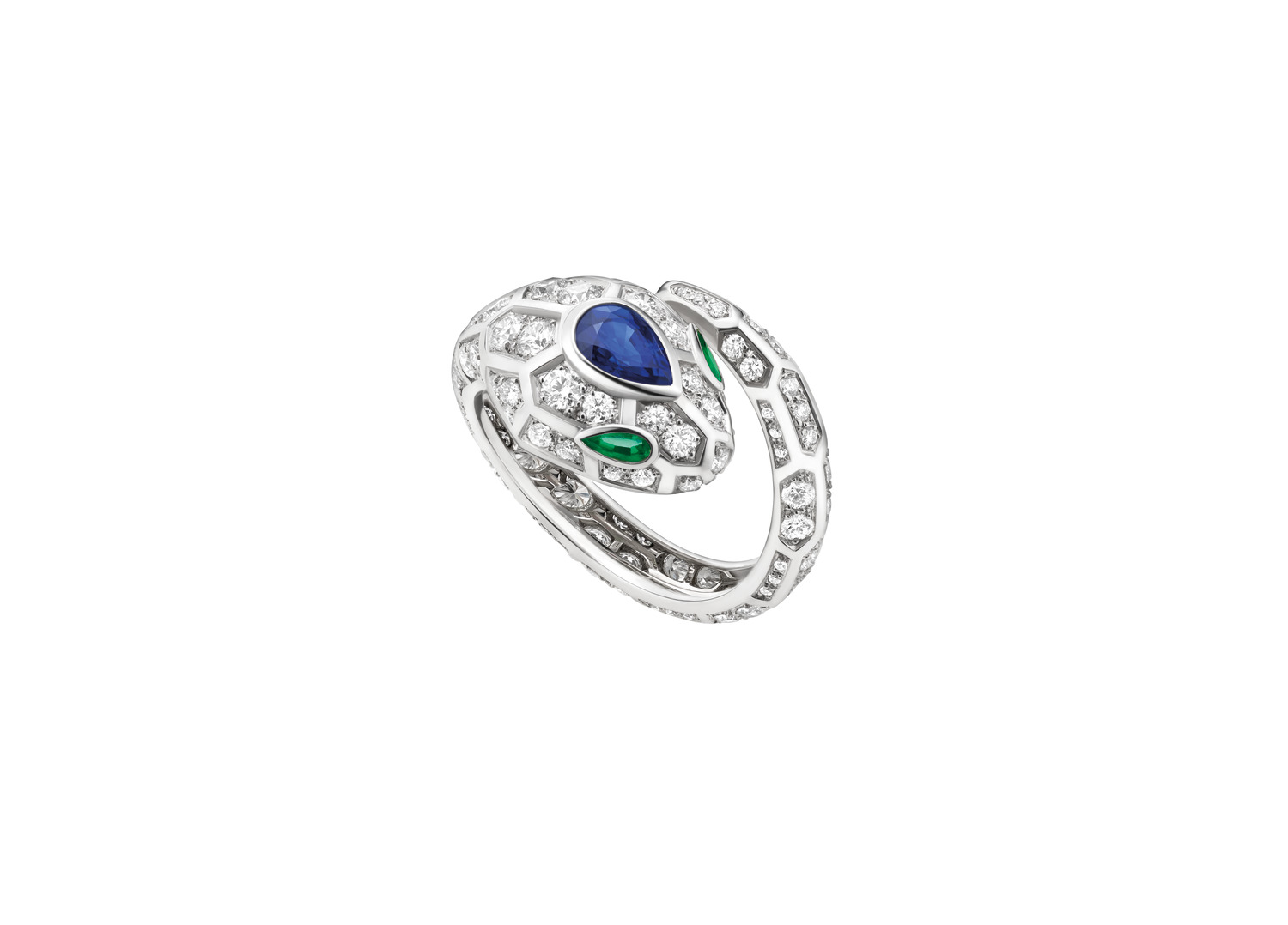 BVLGARI 'Serpenti 18 kt white gold ring