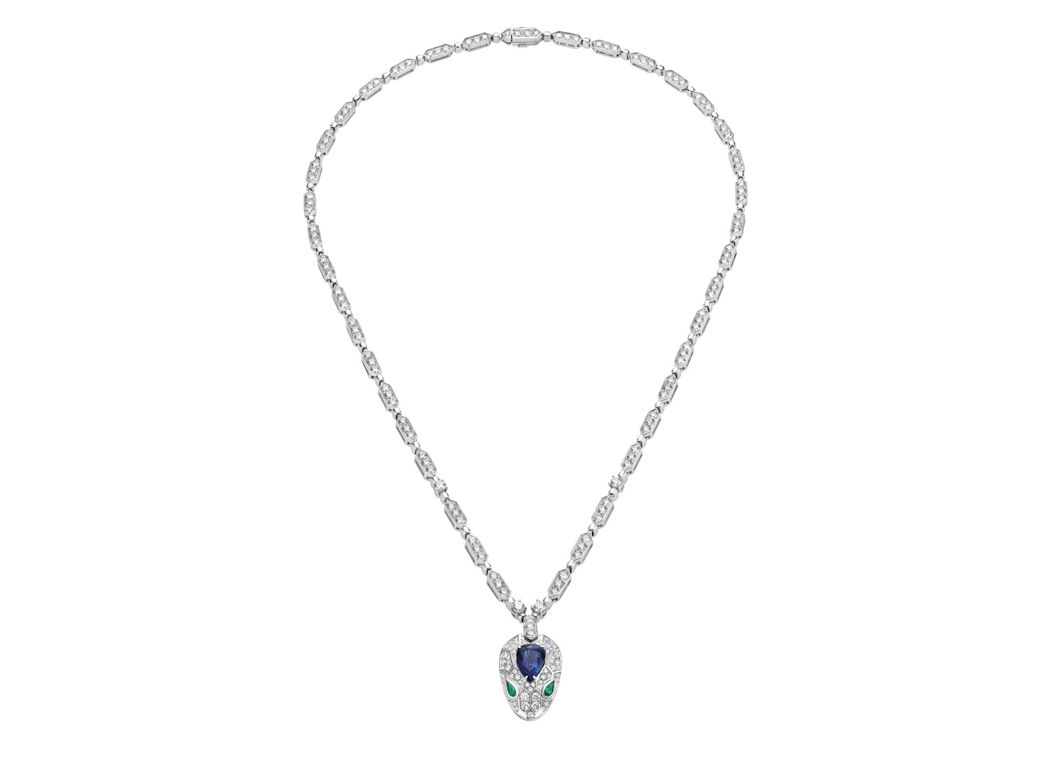BVLGARI Serpenti 18 kt white gold necklace