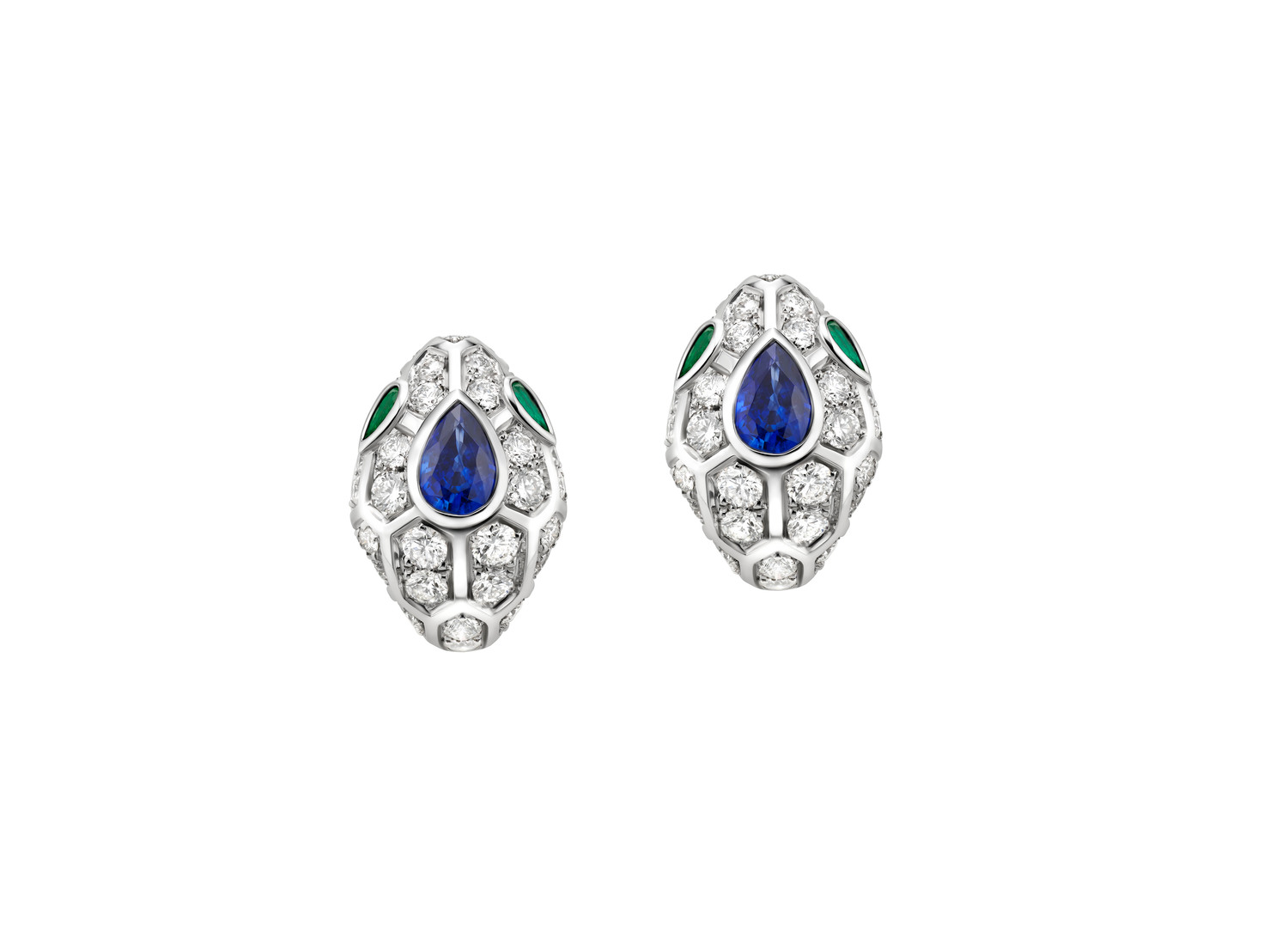 BVLGARI Serpenti 18 kt white gold earrings