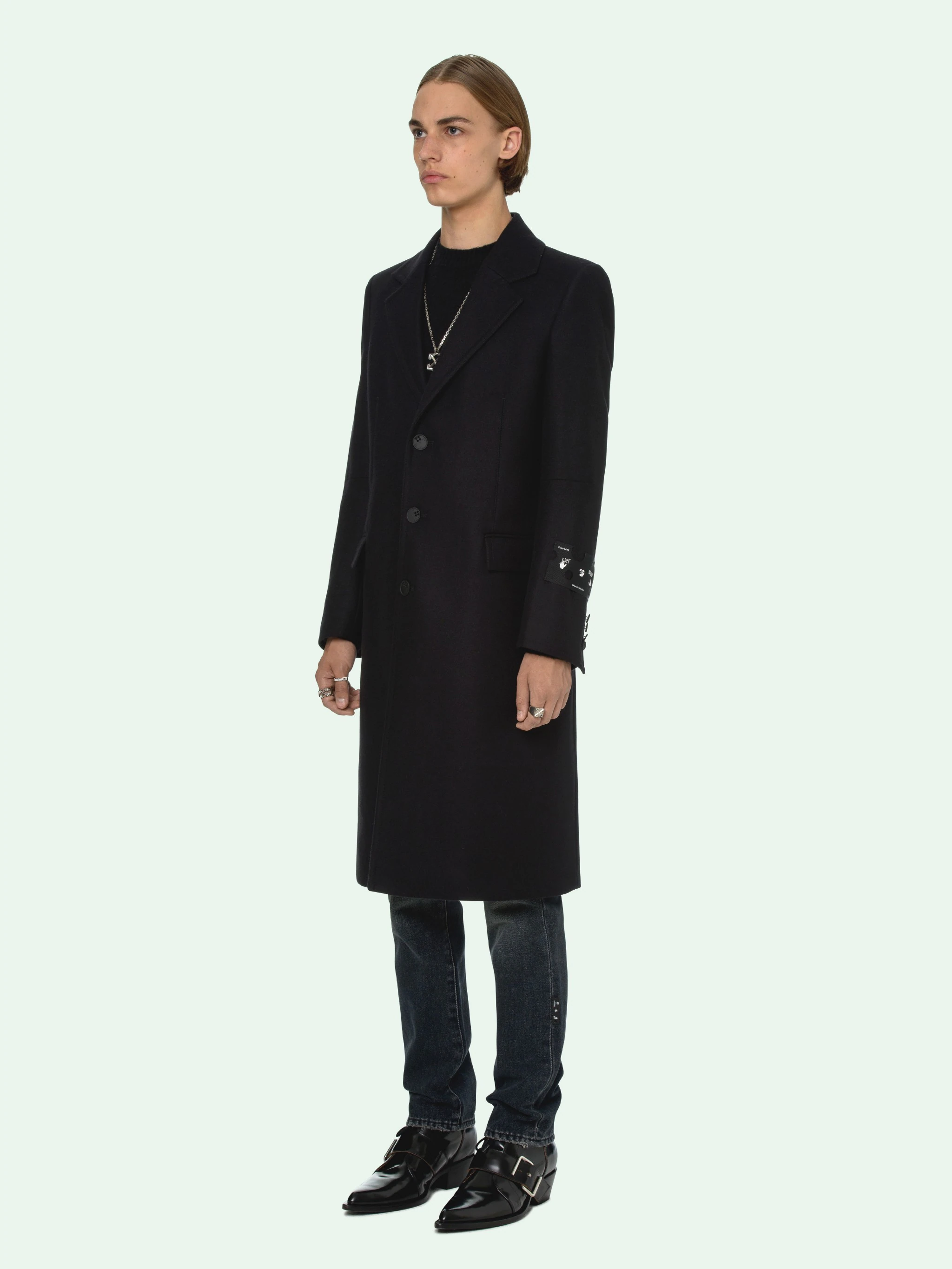 Off-White™ SINGLE-BREASTED WOOL COAT